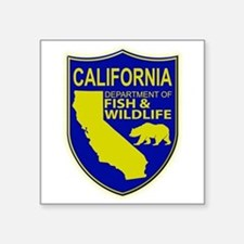 "California Game Warden Square Sticker 3"" x 3"""