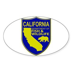 California Game Warden Sticker (Oval 10 pk)