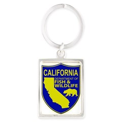 California Game Warden Portrait Keychain