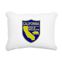 California Game Warden Rectangular Canvas Pillow