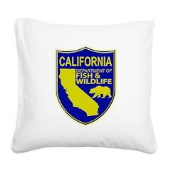 California Game Warden Square Canvas Pillow