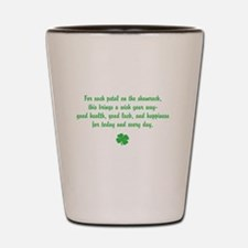 Shamrock wishes Shot Glass