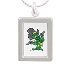 Cactus Cowboy Silver Portrait Necklace