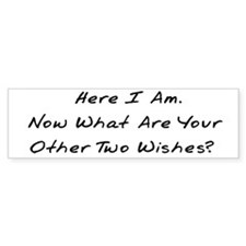 Three Wishes Bumper Bumper Sticker