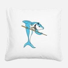 Pool Shark Square Canvas Pillow