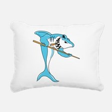 Pool Shark Rectangular Canvas Pillow