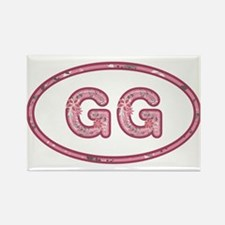 GG Pink Rectangle Magnet