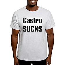 Castro SUCKS Ash Grey T-Shirt