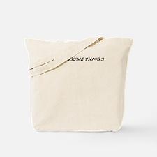 Unique Assume Tote Bag