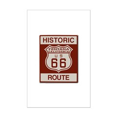Fontana Route 66 Posters
