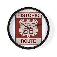 Fontana Route 66 Wall Clock