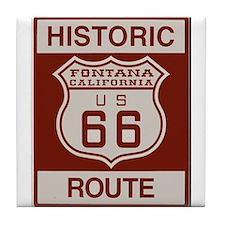 Fontana Route 66 Tile Coaster