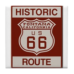 Fontana Route 66 Tile Coaster