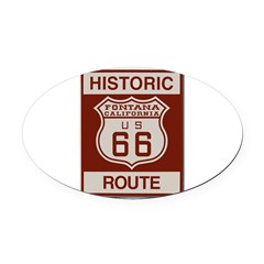 Fontana Route 66 Oval Car Magnet