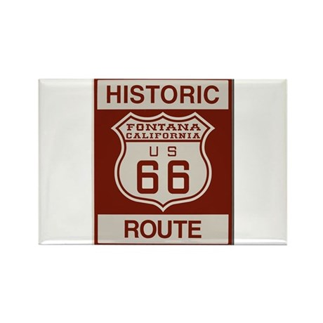 Fontana Route 66 Rectangle Magnet (100 pack)