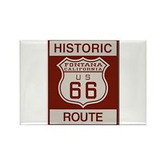Fontana Route 66 Rectangle Magnet