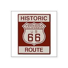 "Fontana Route 66 Square Sticker 3"" x 3"""