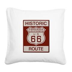 Fontana Route 66 Square Canvas Pillow
