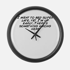 Cute Im late Large Wall Clock