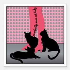 Purrfectly Sane Cat Lady Square Car Magnet 3""