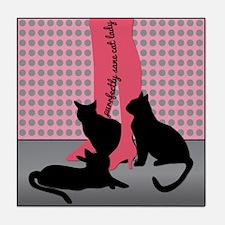 Purrfectly Sane Cat Lady Tile Coaster