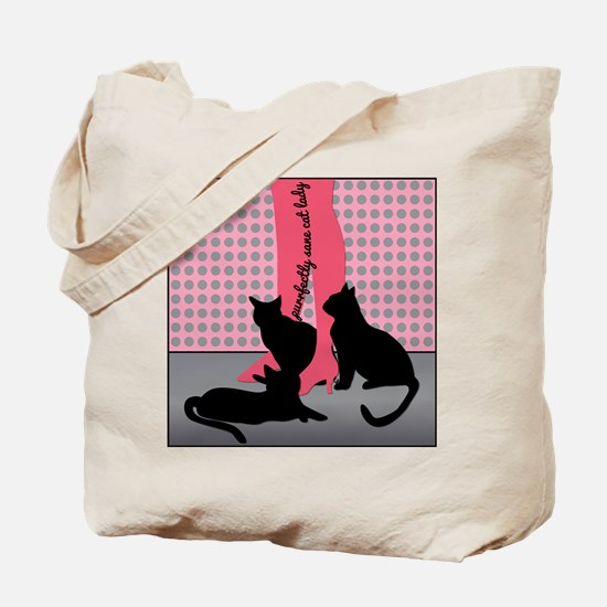 Purrfectly Sane Cat Lady Tote Bag