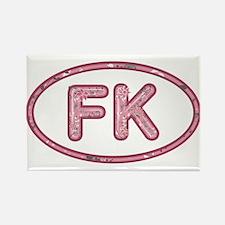 FK Pink Rectangle Magnet