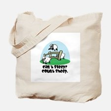 Cant Sleep? Count Sheep Tote Bag