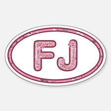 FJ Pink Sticker (Oval)