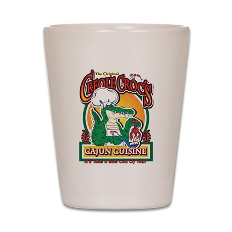 Cajun Creole Mardi Gras Crocodile Shot Glass