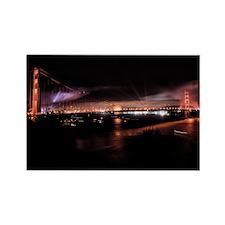 Fireworks - Golden Gate Bridge Rectangle Magnet
