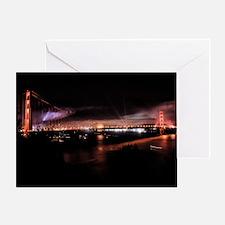 Fireworks - Golden Gate Bridge Greeting Card