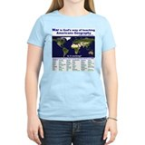Americans way of learning geography Women's Light T-Shirt