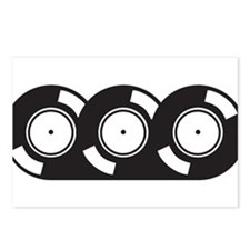 3 Vinyl Records Postcards (Package of 8)