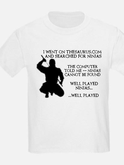 Thesaurus Ninja Funny T-Shirt T-Shirt