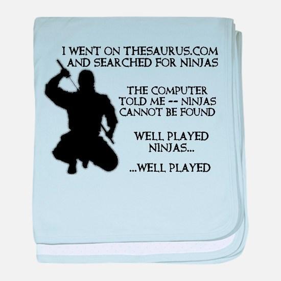 Thesaurus Ninja Funny T-Shirt baby blanket