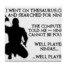 Thesaurus Ninja Funny T-Shirt Tile Coaster