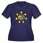 Malachi Crest Women's Plus Size V-Neck Dark T-Shir