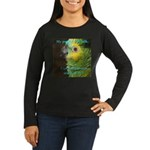 Blue-fronted Amazon Women's Long Sleeve Dark T-Shi