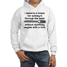 Stabbing With A Fork Funny T-Shirt Jumper Hoody