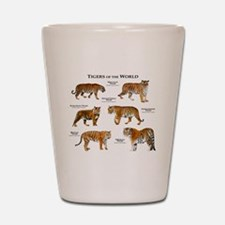 Tigers of the World Shot Glass