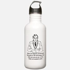 Surrounded By Jerks Funny T-Shirt Water Bottle