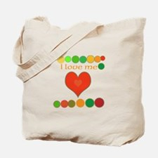 I Love Me uncial and hearts Tote Bag