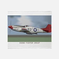 P51D_redtail Throw Blanket
