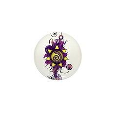 Malachi Crest Flourish Mini Button
