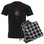 Malachi Crest Flourish Men's Dark Pajamas