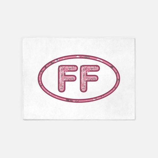 FF Pink 5'x7'Area Rug