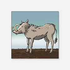 "Lonely Warthog Square Sticker 3"" x 3"""