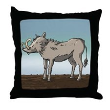 Lonely Warthog Throw Pillow