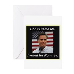 I Voted For Romney Greeting Cards (Pk of 20)